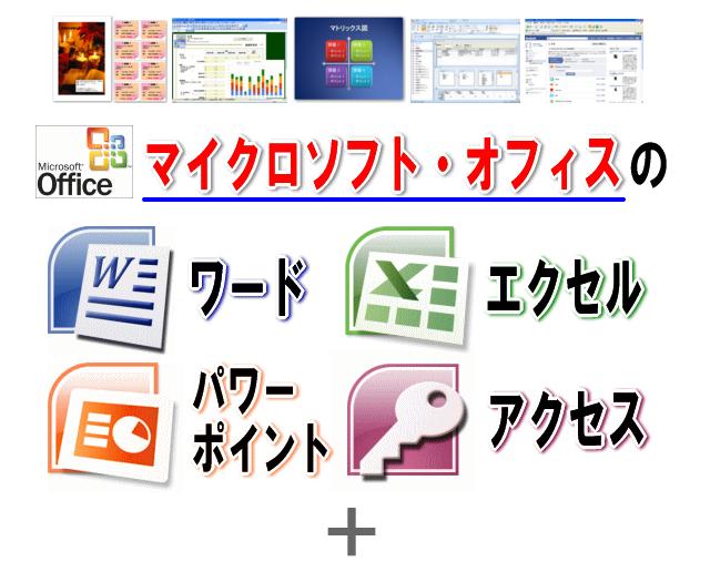 マイクロソフトオフィス・ワード・エクセル・パワーポイント・アクセス家庭で覚えるDVD教材