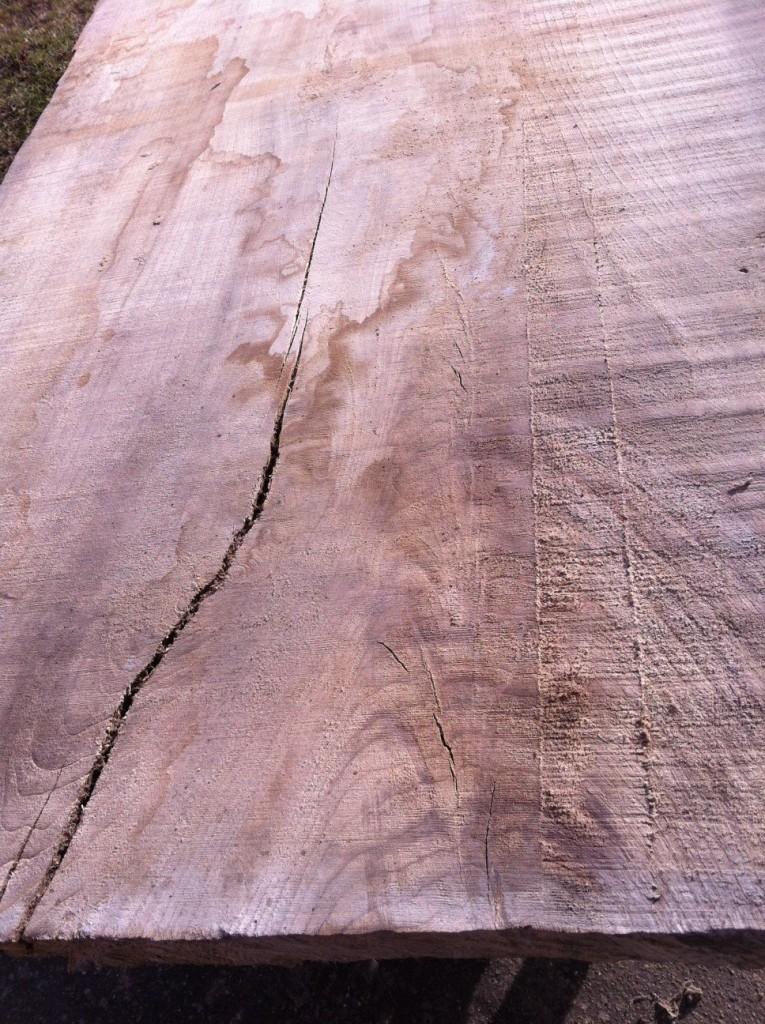 Das geeignete Holz wird ausgewählt...
