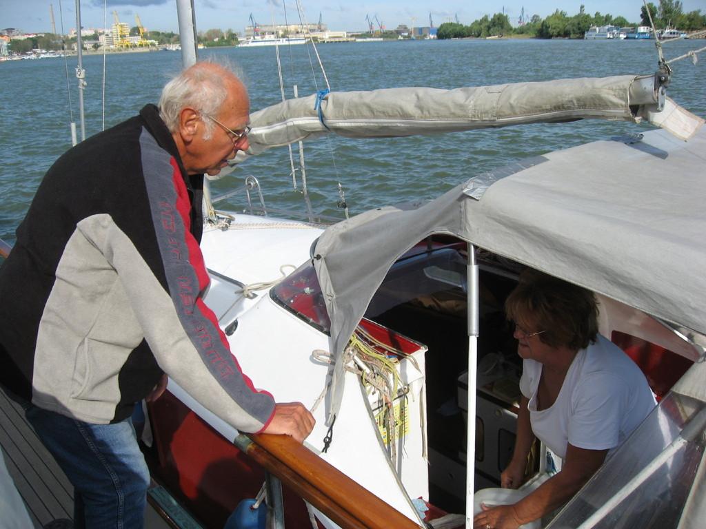 Pit 3; Lothar hat das Boot selbst gebaut