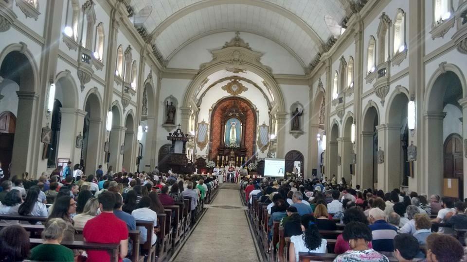 Ação de graças na Igreja N.S. de Fátima