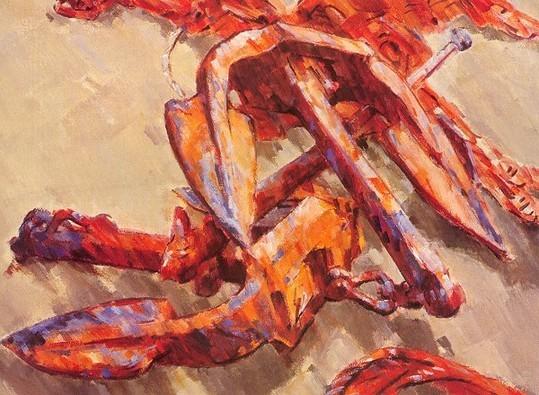 Ancre, 1992. - Huile sur Arches, 54 x 75, collection de l'artiste