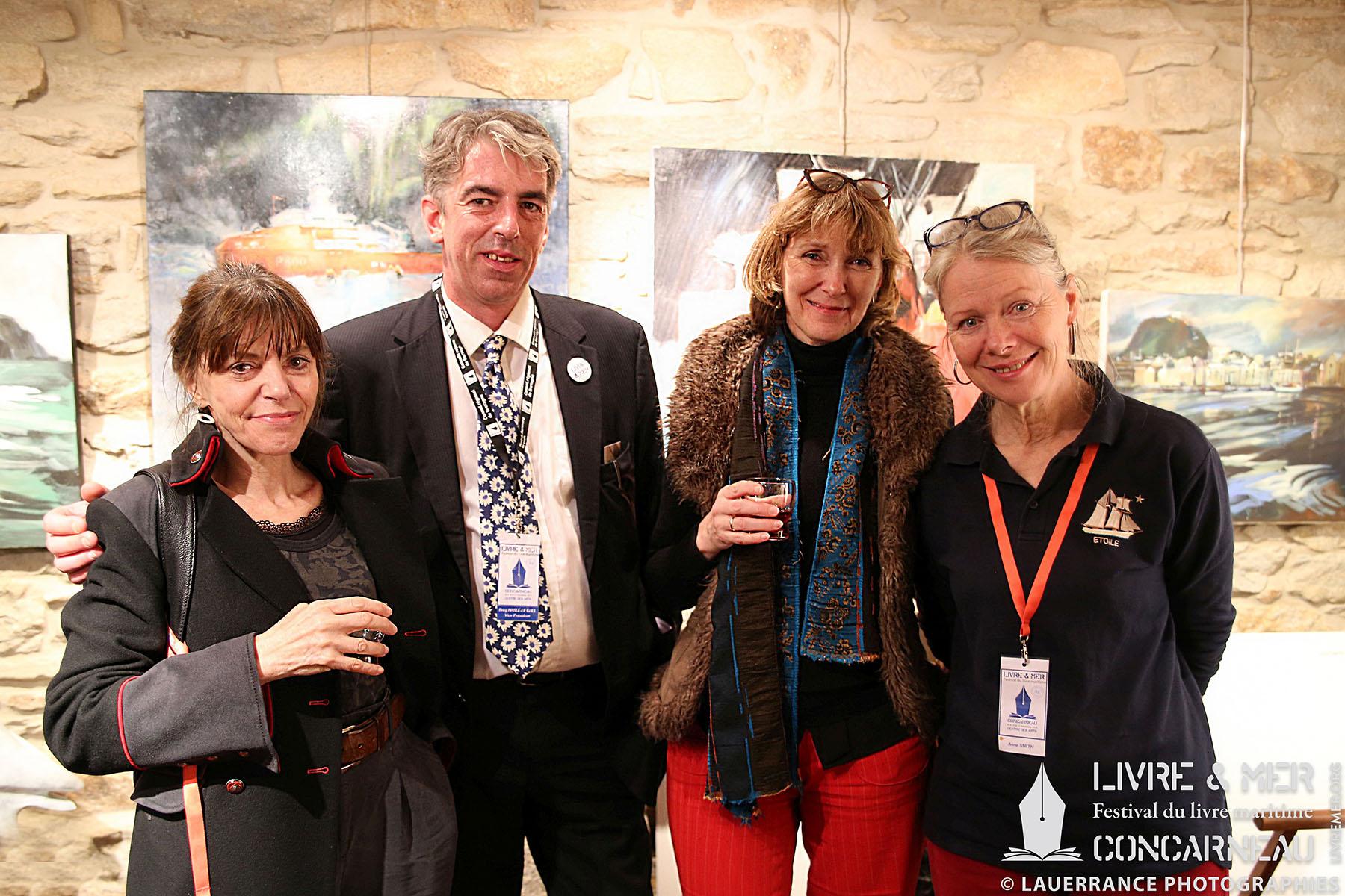 Ève Tharlet, BHLG, Brigitte Luciani & Anne Smith © Lauerrance Photographies