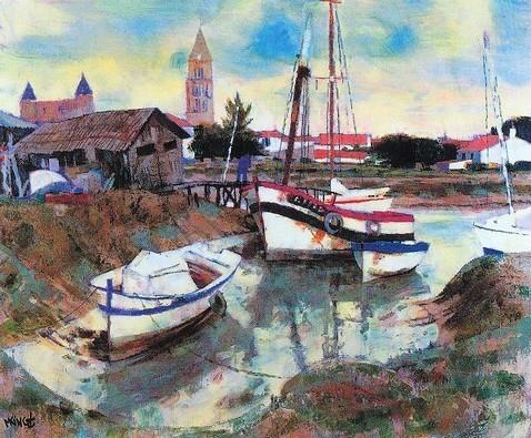 Noirmoutier - Huile sur toile