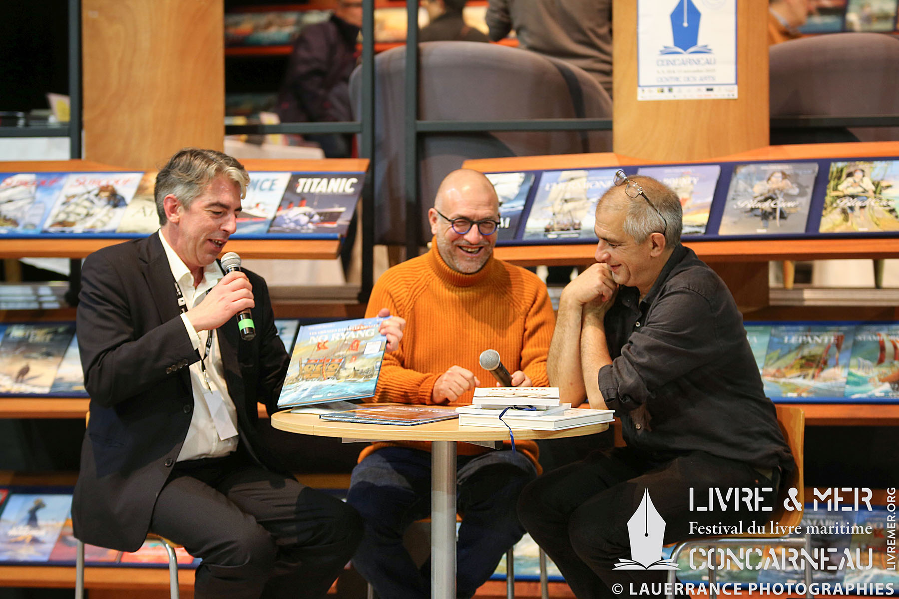 Brieg Haslé-Le Gall, Jean-Yves Delitte & Jean-Benoît Héron © Lauerrance Photographies