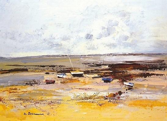 La VENDEE ''Marée basse'' - (huile sur toile 100x73)