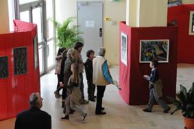 Visite de l'exposition de Michel Barzic