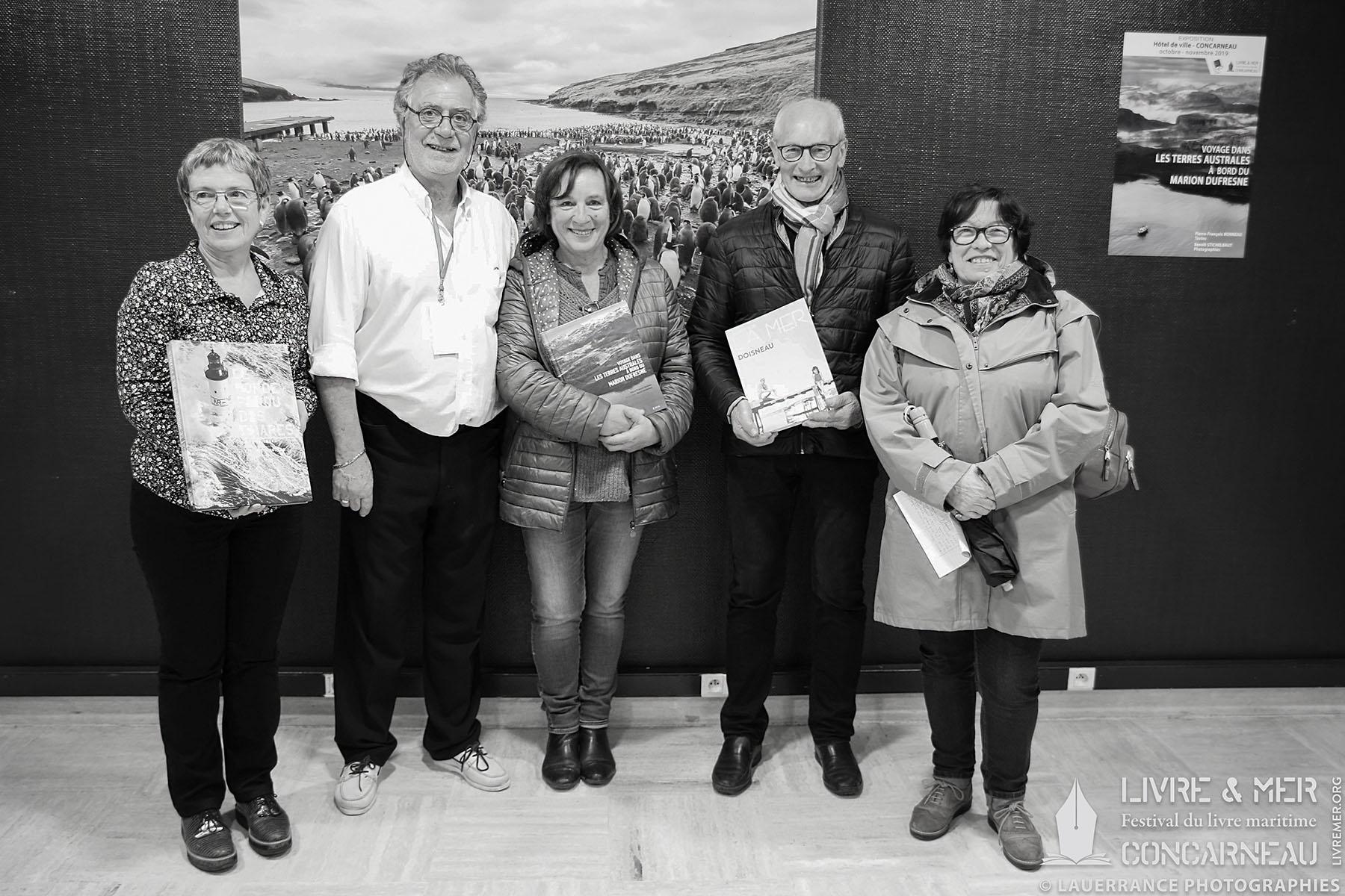 Les gagnantes de la Dictée maritime avec Jacques Campion & Pascale Talandier © Lauerrance Photographies