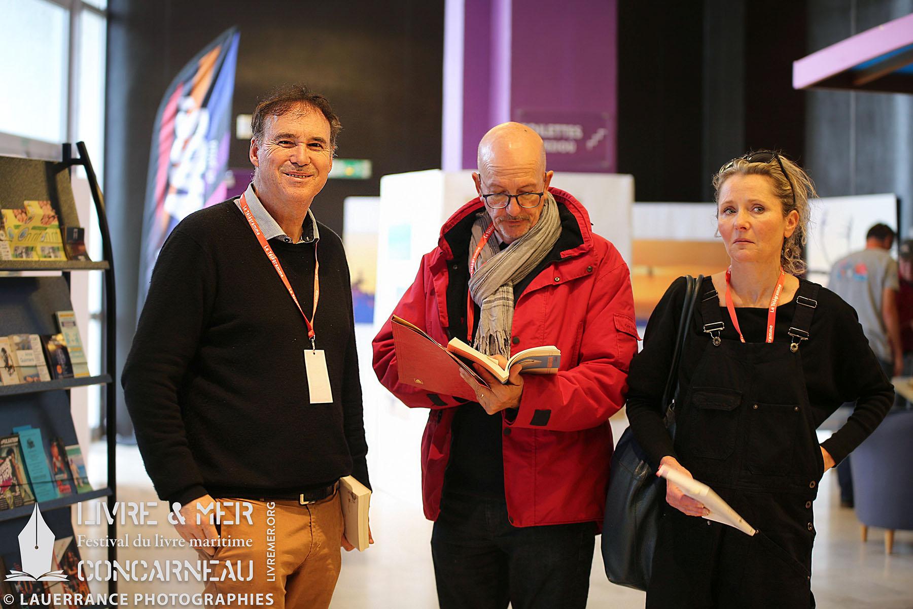 Alain-Gabriel Monot, Gilbert Le Bras & Martine White © Lauerrance Photographies