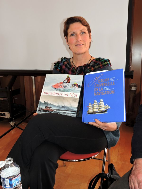 Bonne camarade, Anne Quéméré présente les livres de Bernard Rubinstein et François Bellec, malheureusement déjà partis pour cause de grève