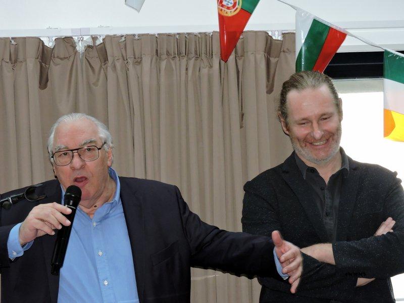 Didier Decoin remet le Prix Henri-Queffélec à David Fauquemberg pour son roman Bluff