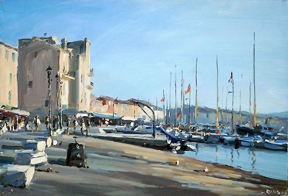 Saint-Tropez, Le port - 55 x 38cm