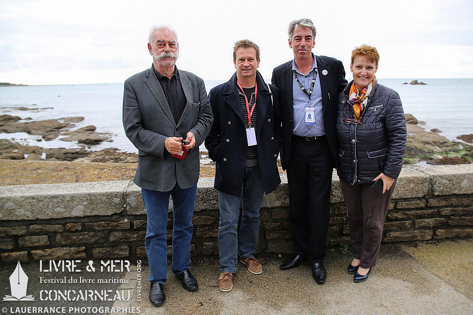 Jean-Yves Rogel, Vincent Guigueno, Brieg Haslé-Le Gall & Élisabeth Larbre © Lauerrance Photographies