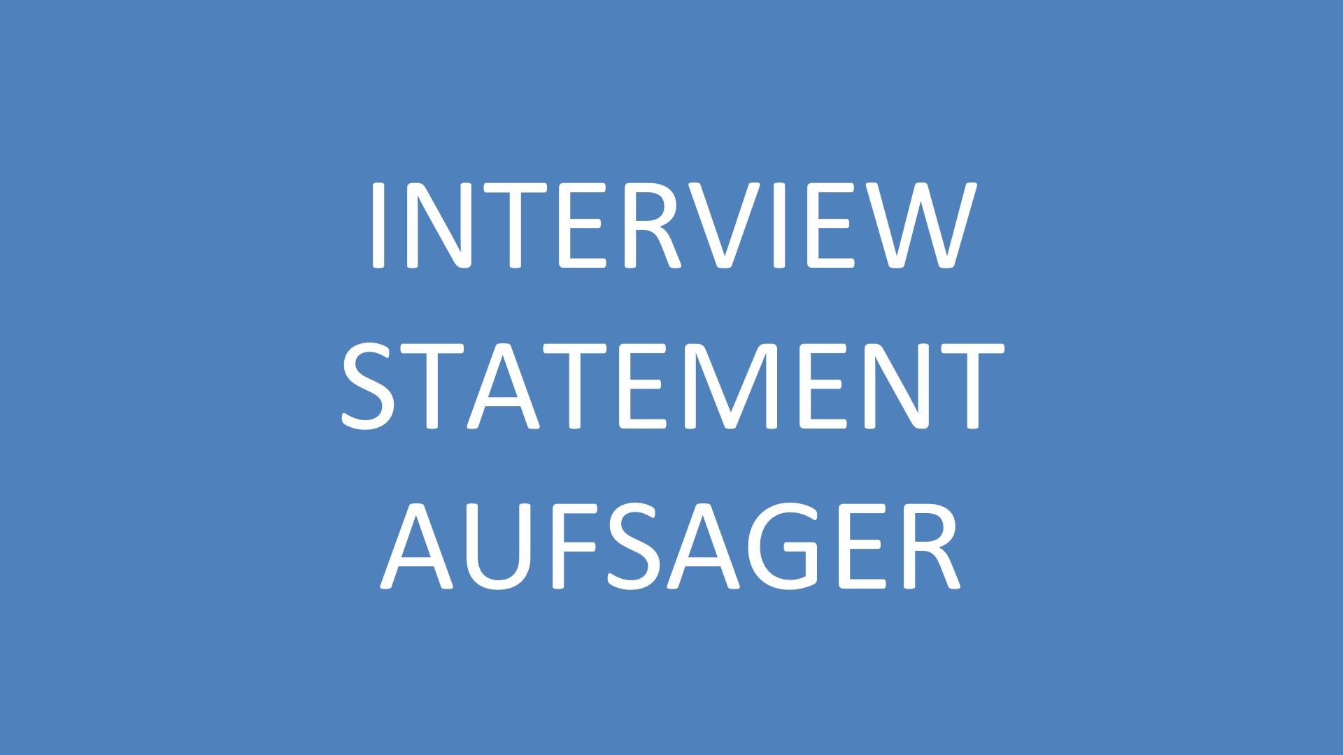 Interviews sind ein hervorragender Einstieg in die Welt der Business-Filme! Aber auch nicht zu unterschätzen!