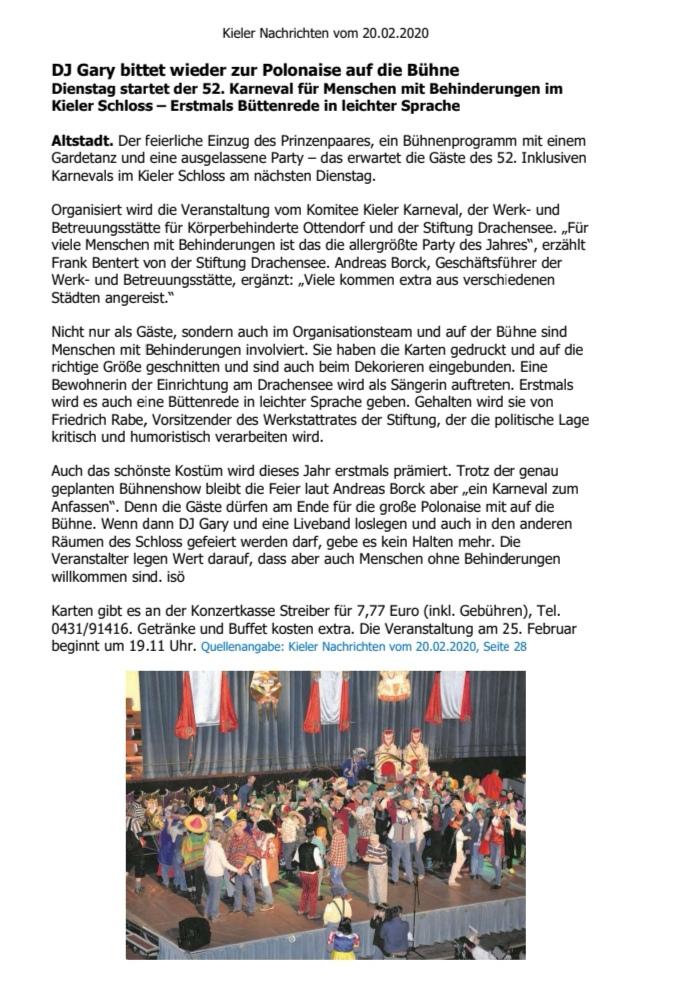 Kieler Nachrichten 20.02.20
