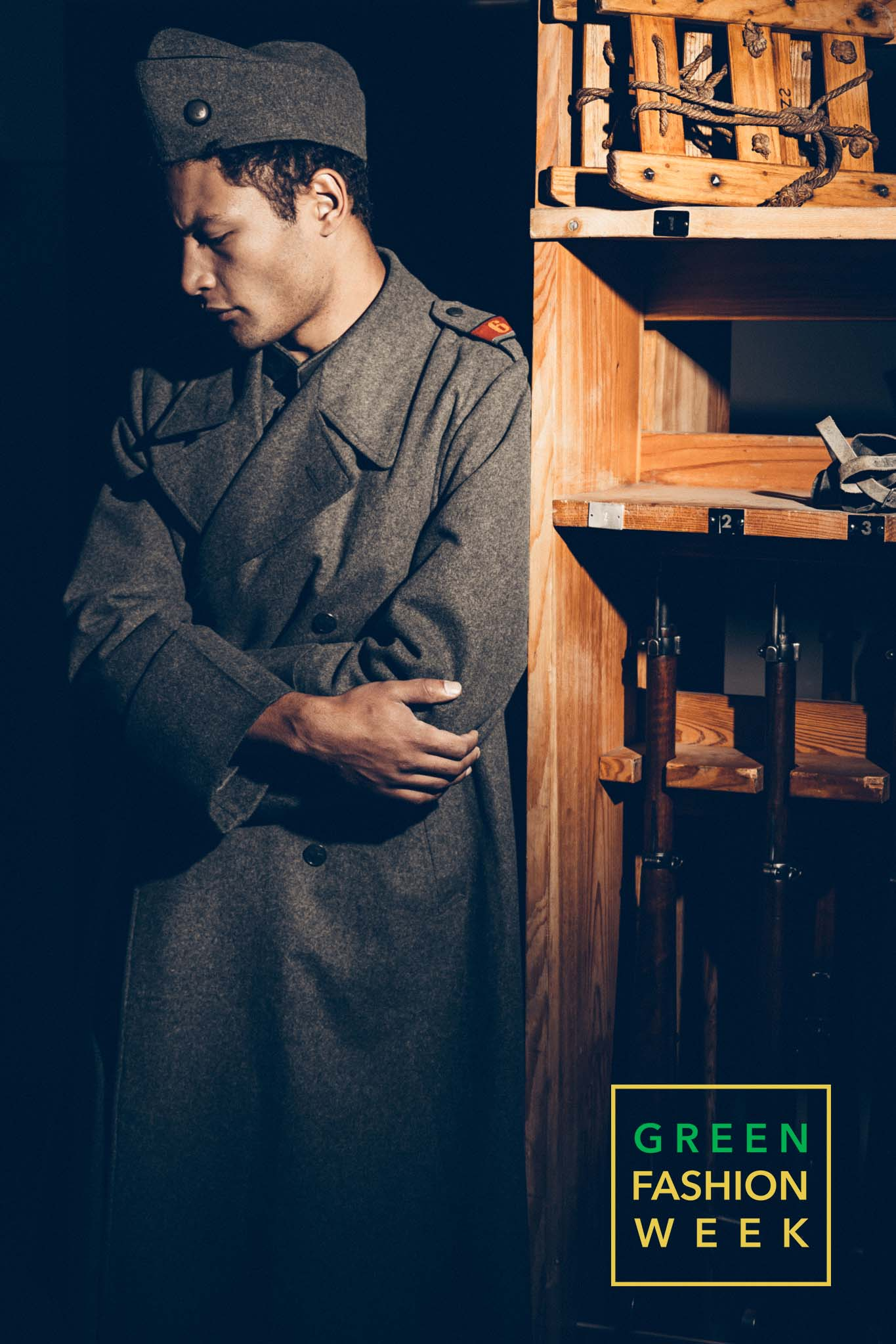Model Tom Van Hauwaert dressed with Museum's World War II uniforms. Photo Credit: Vittorio La Fata | www.vittoriolafata.it