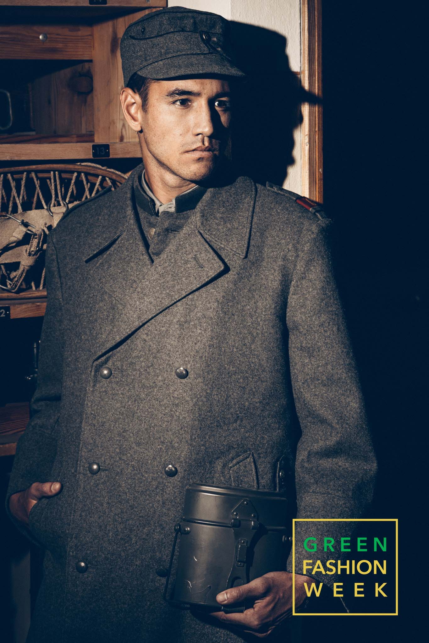 Model Mark Chanloung dressed with Museum's World War II uniforms. Photo Credit: Vittorio La Fata | www.vittoriolafata.it