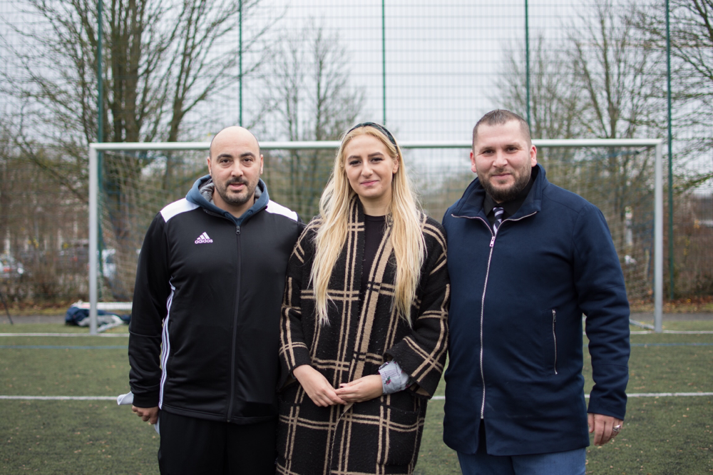 Trainer Vincenzo Arancio, Melanie Vetter und Hasret Batbay