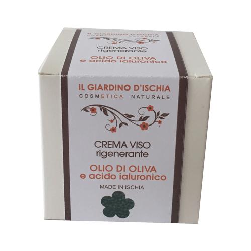 crema viso rigenerante olio di oliva e acido ialuronico