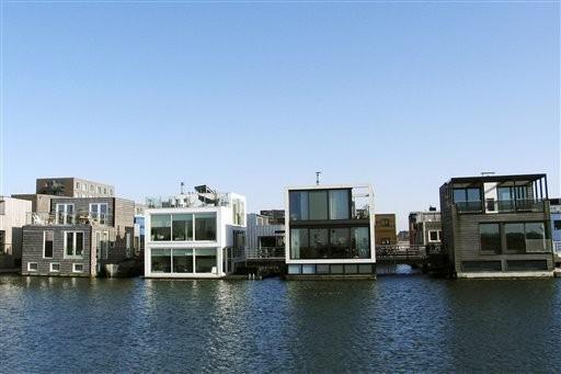 Casas anfibias en Holanda
