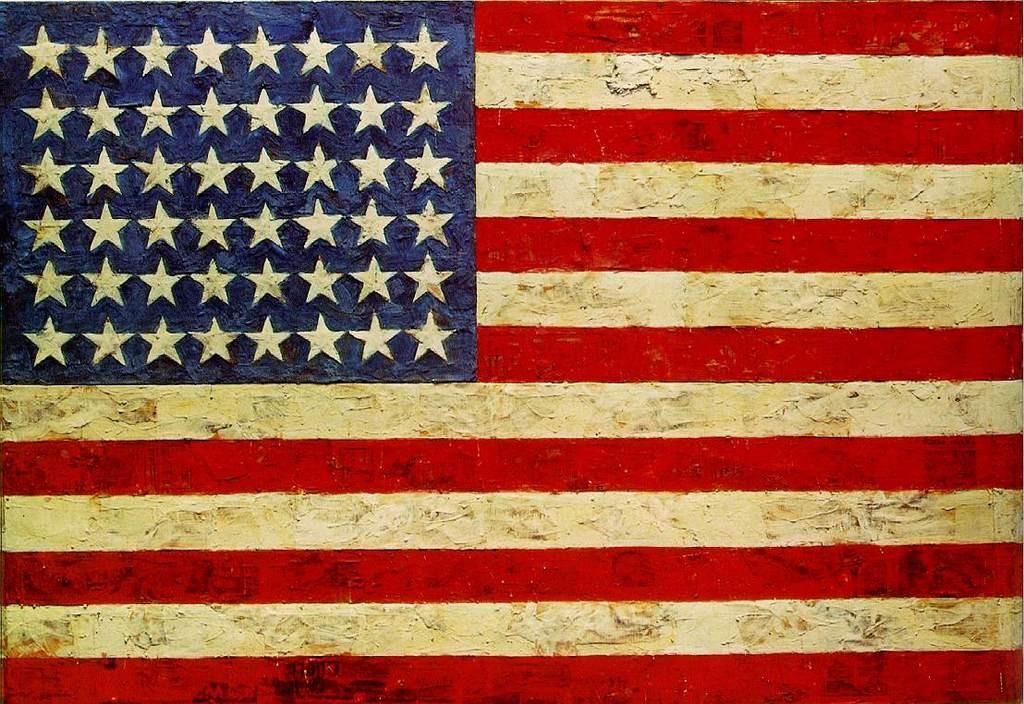 """8) """"Bandera"""", de Jasper Johns. 87.2 millones de euros (mayo de 2012)"""