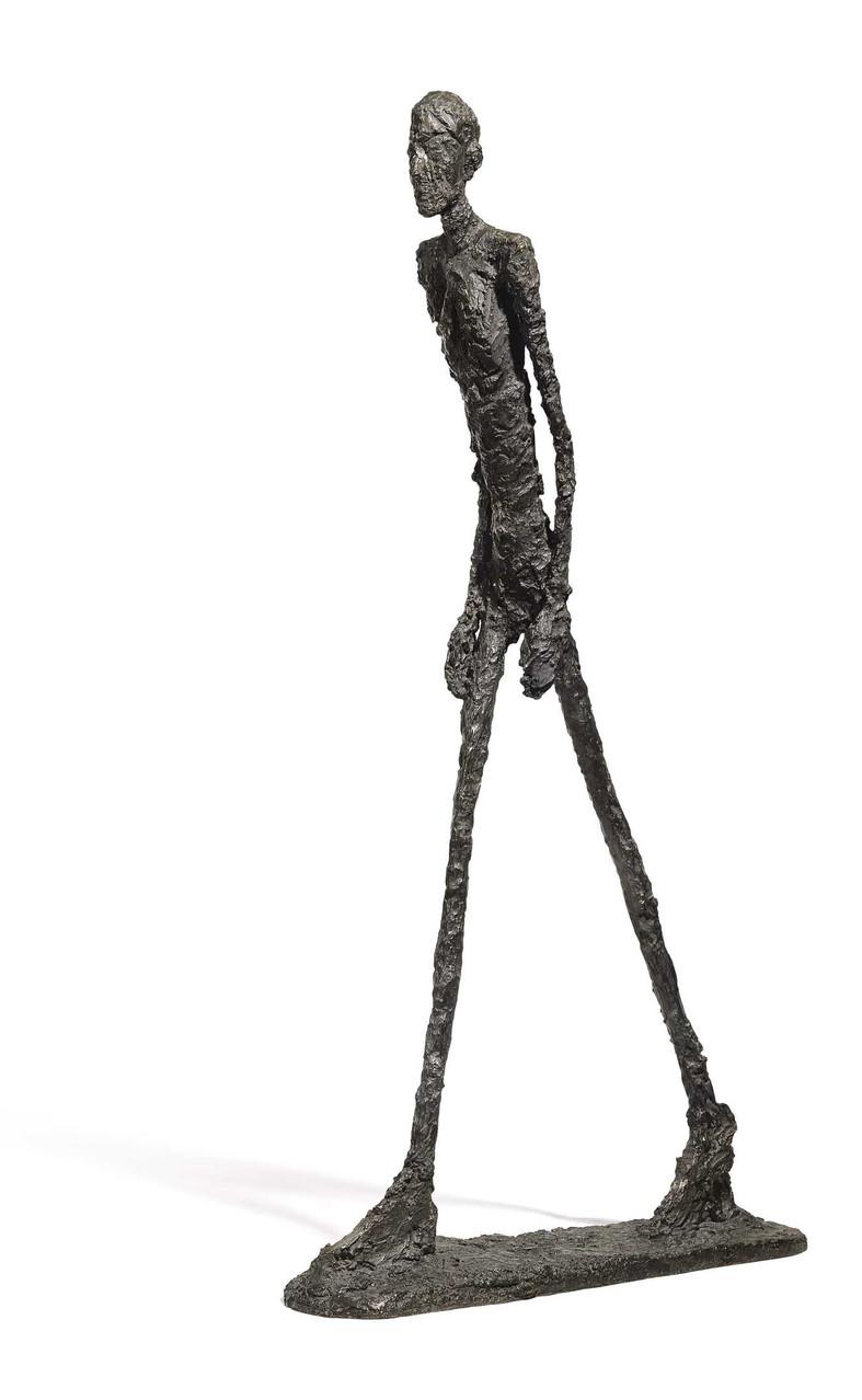 """10) """"El hombre que camina"""", de Alberto Giacometti. 78 millones de euros (febrero de 2010)"""