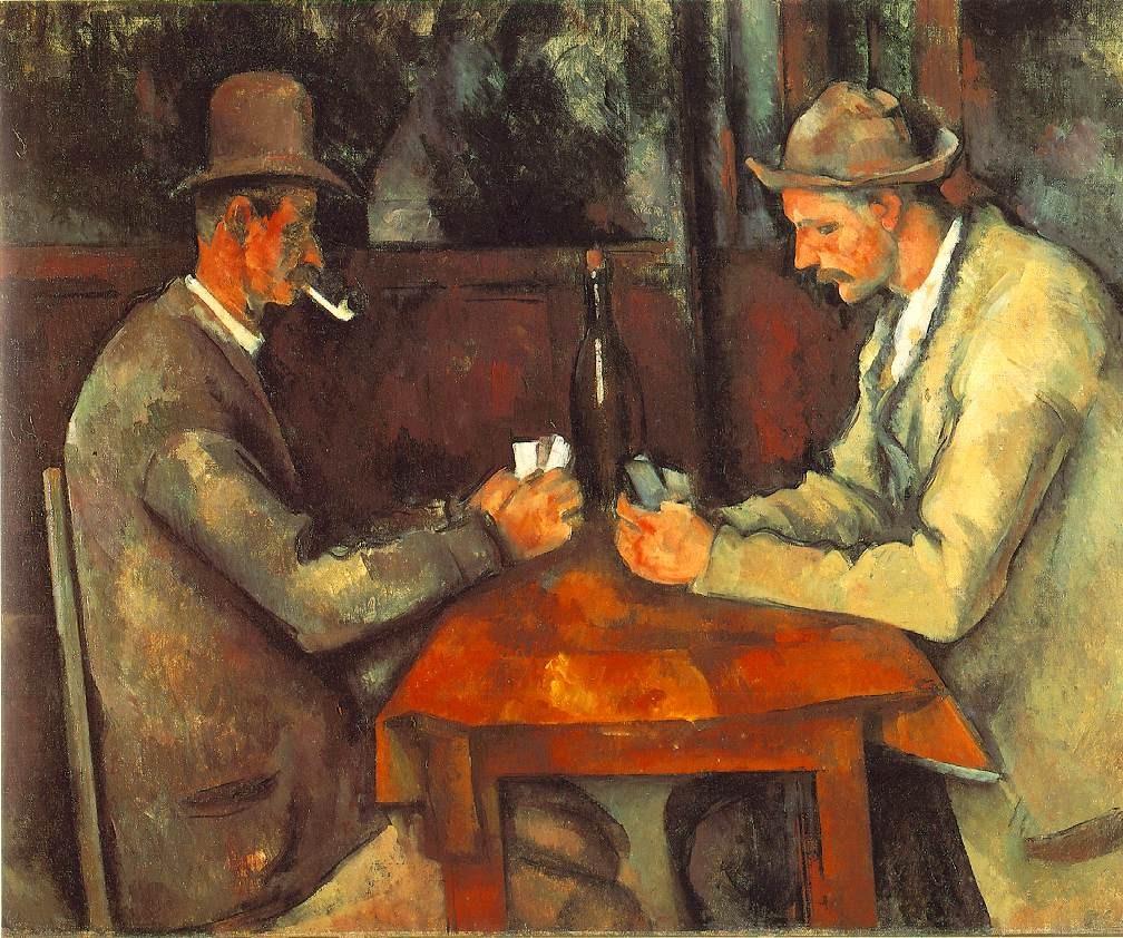 """1) """"Los jugadores de cartas"""", de Paul Cezanne. 191.6 millones de euros (febrero de 2012)"""