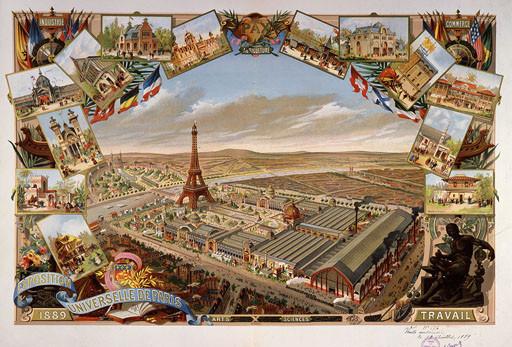 Cartel Exposición Universal de París - 1889.