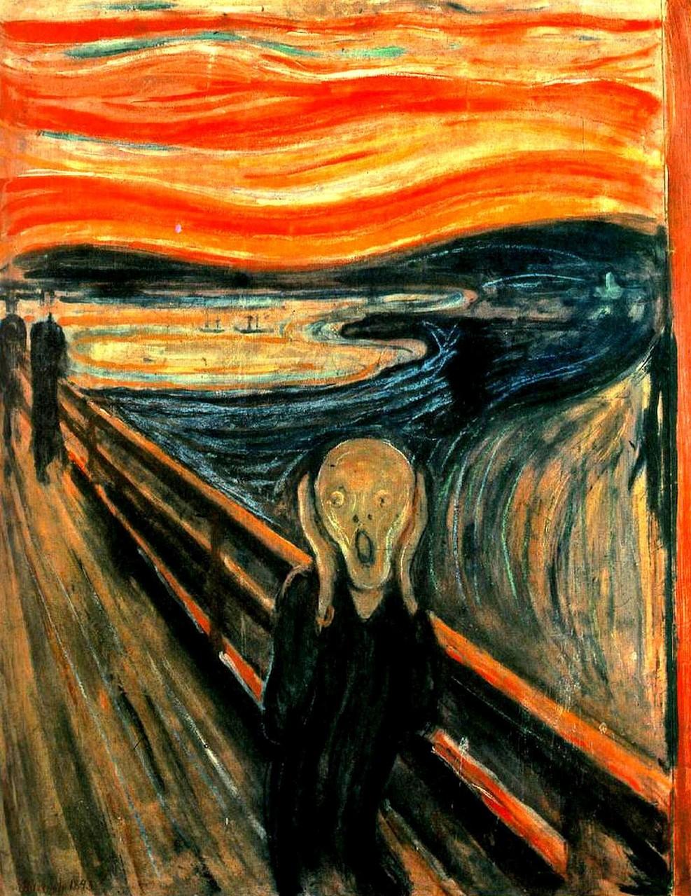 """7) """"El grito"""", de Edvard Munch. 90 millones de euros (mayo de 2012)"""