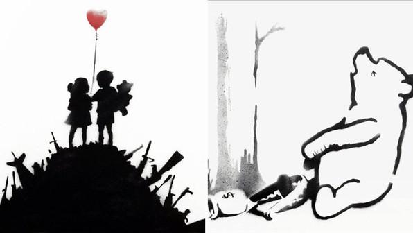 'Kids on Guns' y 'Winnie the Pooh' - Banksy