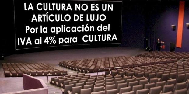 La cultura no es un artículo de lujo. Por la aplicación del IVA al 4% para la cultura.
