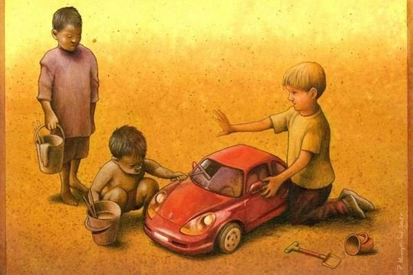 Las críticas ilustraciones de Pawel Kuczynski