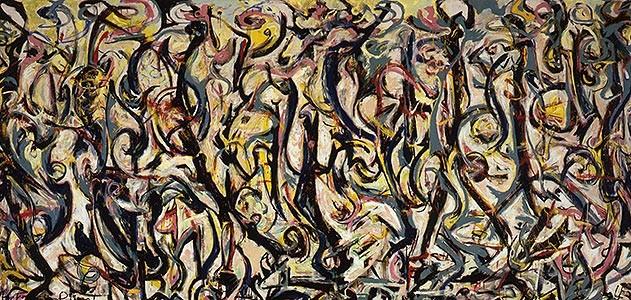 Pintura de Jackson Pollock.