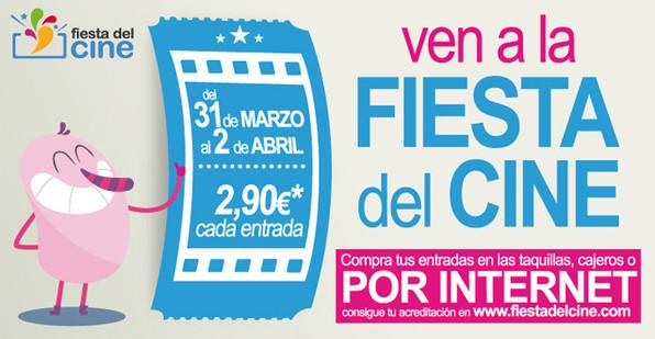Vuelve la Fiesta del Cine con precios reducidos entre el 31 de marzo y 2 de abril