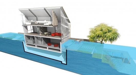 Diseño casa anfibia de Baca Architects para Reino Unido