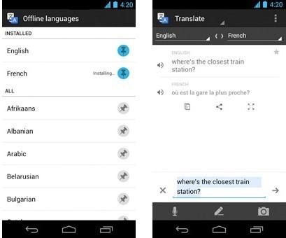 Aplicación Google Traductor.