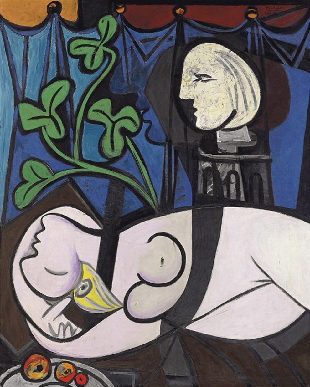 """9) """"Desnudo, hojas verdes y busto"""", de Pablo Picasso. 80 millones de euros (mayo de 2010)"""