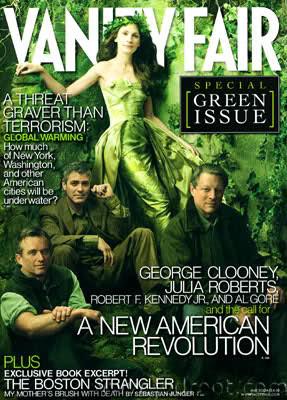 Julia Roberts y George Clooney junto con Robert F. Kennedy y Al Gore – Annie Leibovitz (2006).