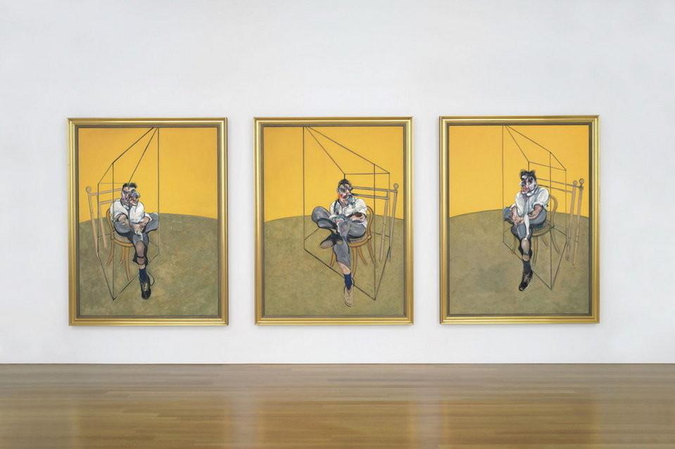 """3) """"Tres estudios de Lucien Freud"""", de Francis Bacon. Fue adquirido por 106.2 millones de euros en una subasta en Nueva York (noviembre 2013)."""