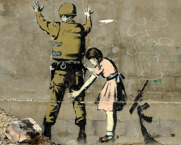 Las creativas obras del artista urbano Banksy