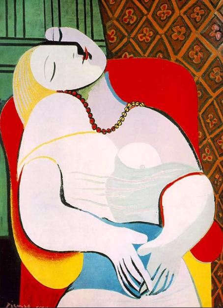 """2) """"El sueño"""", de Pablo Picasso. 116 millones de euros (marzo de 2013)"""