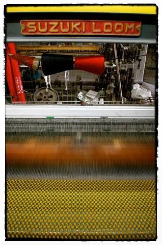 Kufiyya en la fabricación