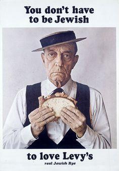 La pubblicità creativa Bill Bernbach: il pane Levy's