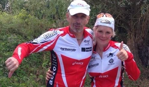 Vater und Tochter sind heutige Finisher vom Bodensee Megathlon! Ganz herzliche Gratulation!