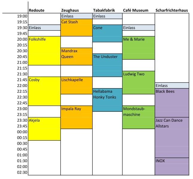 Spielplan Freitag 15.01.2015