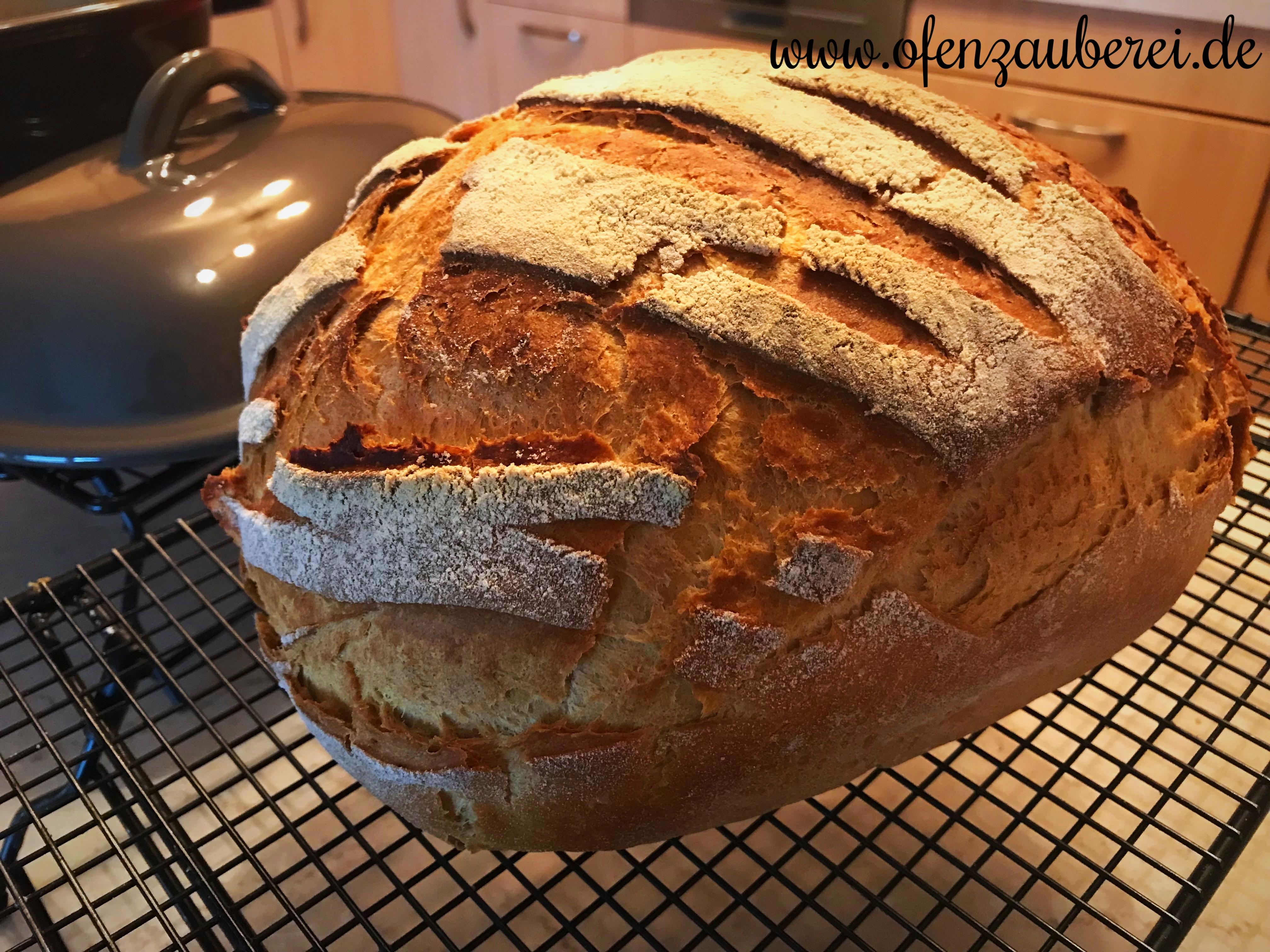 Selbstgebackenes Roggen Weizen Misch Brot aus dem Zaubermeister oder Ofenmeister von Pampered Chef aus dem Onlineshop