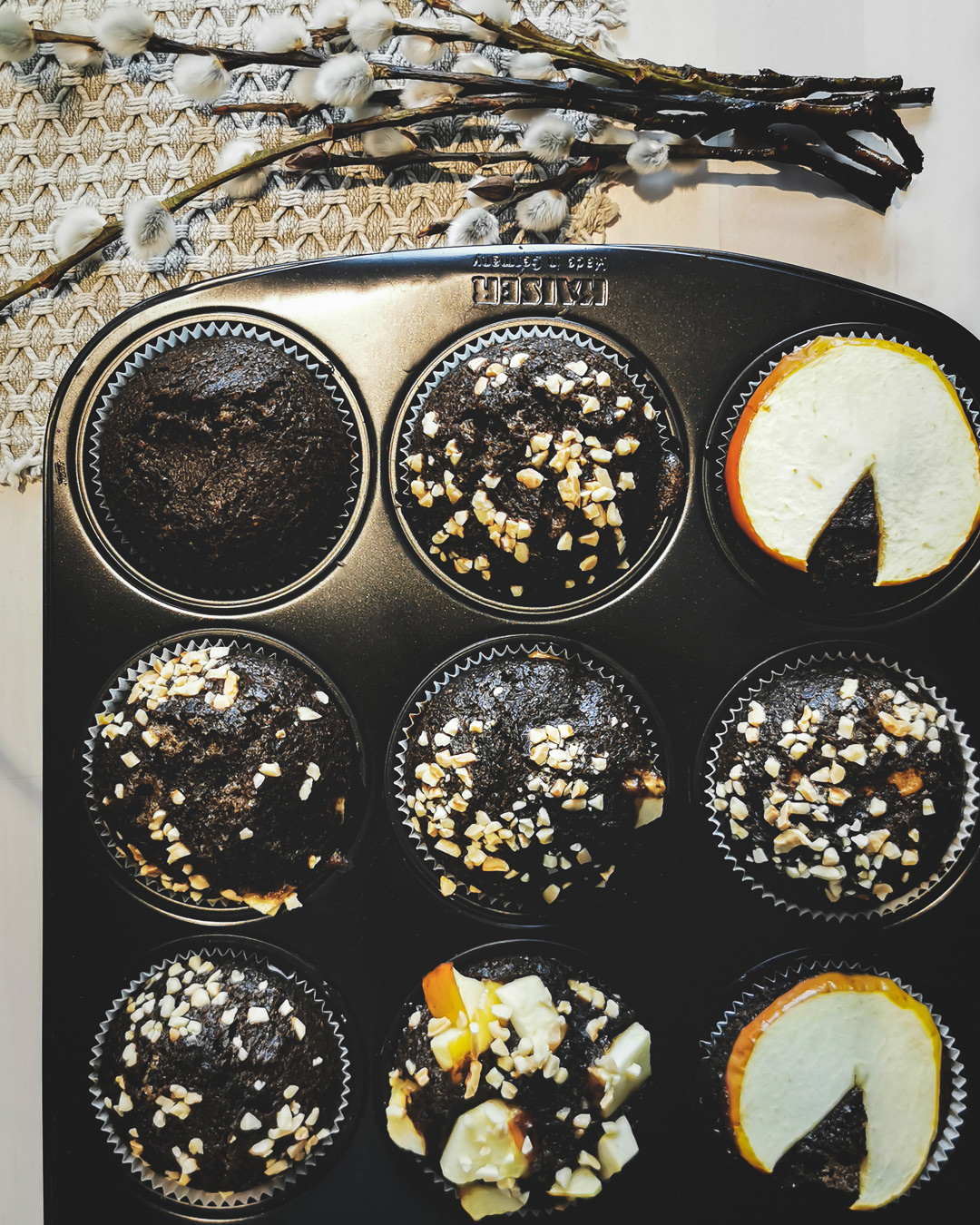 Rezept |  Houjicha Apfel Muffins