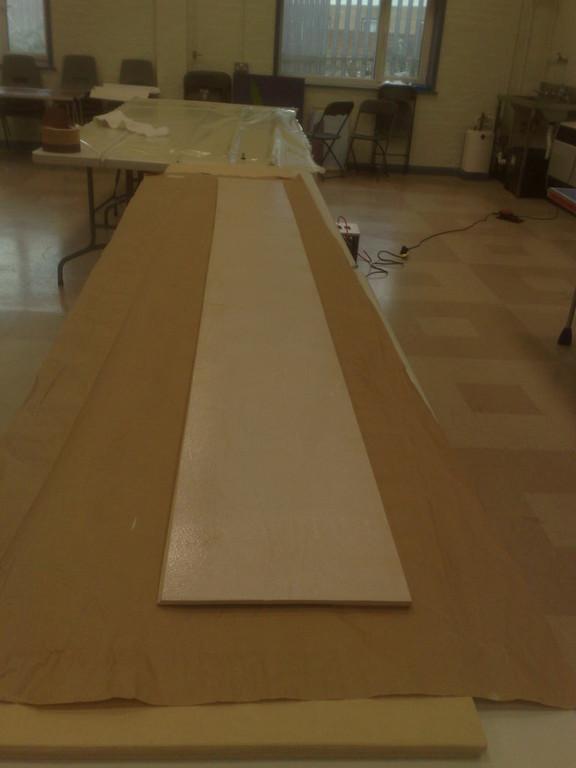 Cloaking panel poise for veneering