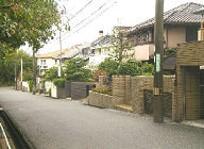 竹の台戸建て住宅が並んでいる様子の写真