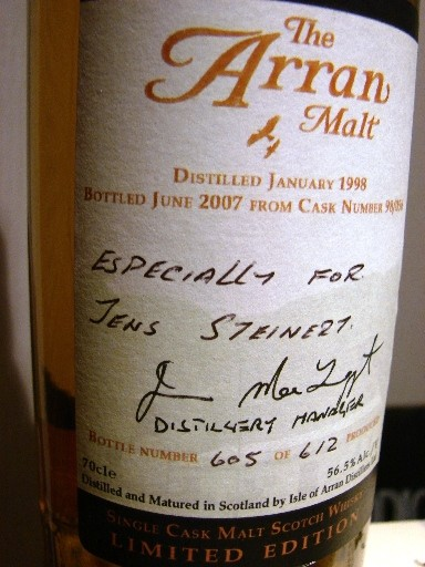 especially for me, directly from the Distillery
