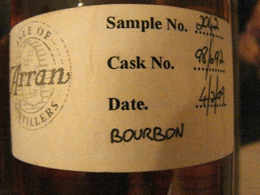 Cask Sample from  a Tasting in Limburg, thanks Louisa!